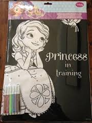 "Sofia the First Velvet Coloring Sheet with Markers ""Princess in Training"""