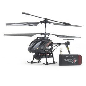 iCam Helicopter with Camera for iPhone, iPad and Android (Black)