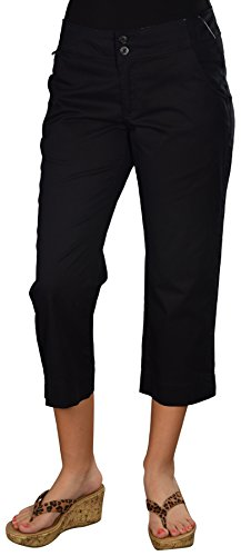 Columbia Women's Super Small Streams Capri Pants-Black-Size