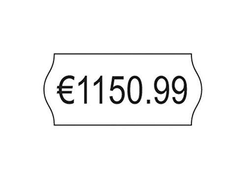 AVERY ZWECKFORM Boite de 10 rouleaux 1500 étiquettes pince à étiqueter 26 x 12mm 1 ligne Blanche