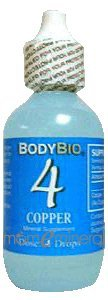 4 Copper Trace Minerals 2 oz by BodyBio / E-Lyte