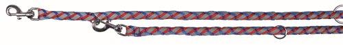 Trixie 13592 Guinzaglio Regolabile Riflettente, 2.00 m/Ø 18 mm, L-XL, Blue-Rosso
