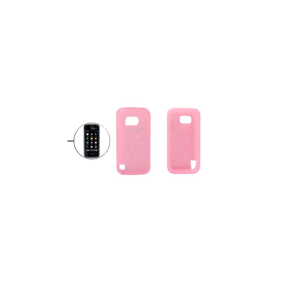 Gino Anti slip Pink Silicone Skin Case for Nokia 5800 XpressMusic