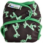Best Bottom Cloth Diaper Shell-Snap, Green Giraffe