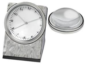 Chass Hammered Clock with Magnifier