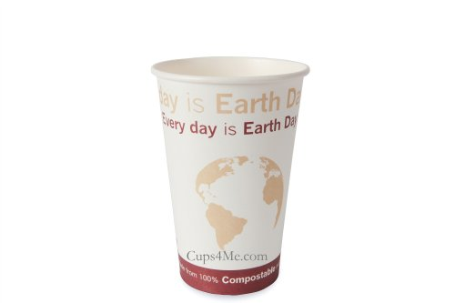 16Oz. Compostable Pla Hot Paper Cup/1000 Ct.