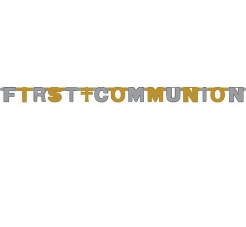 First Communion Foil Jointed Banner - 9 ft. x 4.25 in. - 1