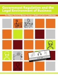 Goverment Regulation and the Legal Environment of Business