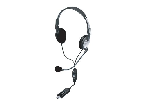 Andrea Electronics C1-1022600-50 Model Nc-185 Vm Usb High Fidelity Stereo Usb Computer Headset With Noise Canceling Microphone And Volume/Mute Controls