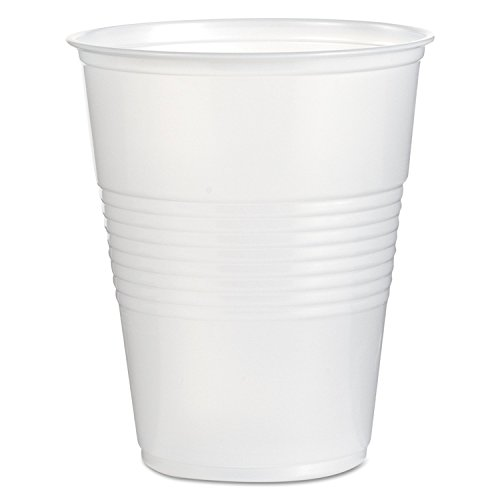 Boardwalk TRANSCUP16CT Translucent Plastic Cold Cups, 16oz (Case of 1000)