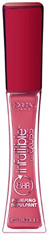 LOreal Paris Infallible Never Fail Plumping Lip Gloss Plumped