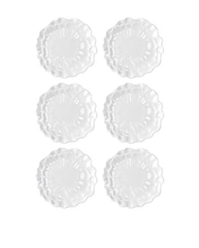 Q SQUARED NYC Set of 6 Peony Salad Plates
