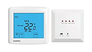 Wireless Non Programmable Touchscreen Thermostat - Heatmiser DT-WTS Kit