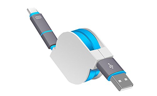 SMTR Cavo USB tratto micro USB e TYPE-C3.1 2in1 android TYPE-C insieme per LG G5 Samsung Xiaomi Huawei Zuk Meizu HTC LG e altri Dispositivi (per usb-type c, blu)