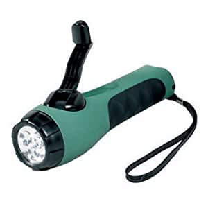 Cyba-Lite Wind Up LED Tourch - Green