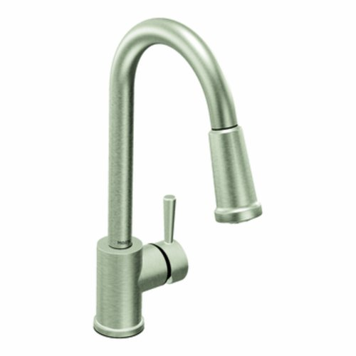 Moen 7175CSL Level One-Handle High Arc Pulldown Kitchen Faucet, Classic Stainless