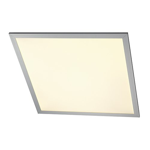 Deckeneinbauleuchte LED PANEL CL 136 Aufbauleuchte, silber eloxiert, quadratisch LED warmwei&#223;
