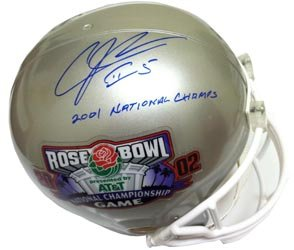 Andre Johnson Signed 2002 Rose Bowl Miami Hurricanes Autographed Helmet Tristar by Powers+Collectibles
