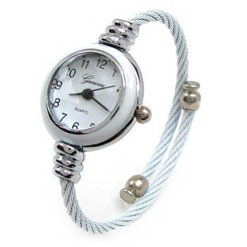 Bestdealusa Fashion Girls Ladies Rope Bracelet Wrist Watch Grey And White