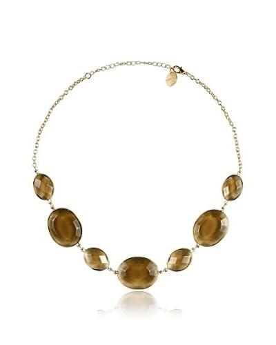 Marlyn Schiff Smokey Quartz Collar Necklace