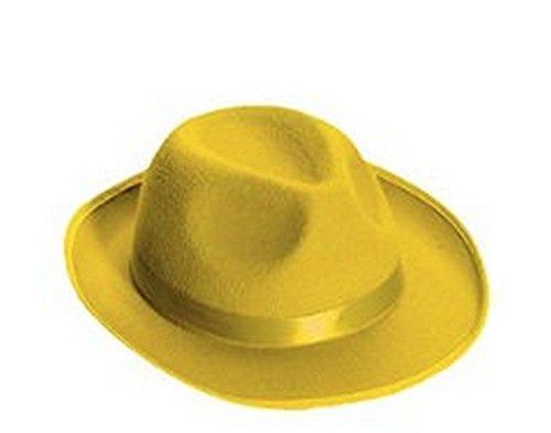 Forum Novelties Men's Deluxe Adult Novelty Fedora Hat, Yellow, One Size
