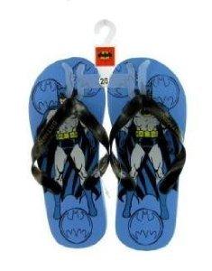 Image of Batman Flip Flop Slippers Color: Blue Size: 13/1 (B003CXW9EC)