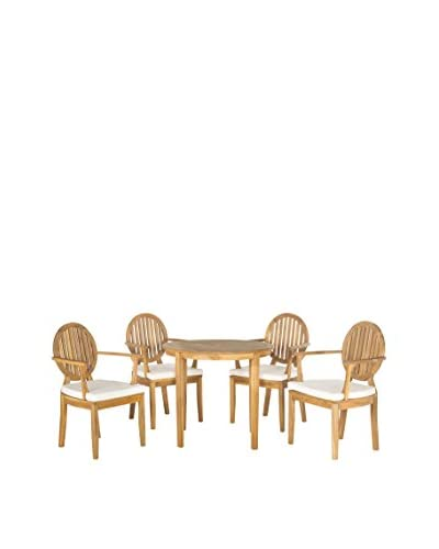 Safavieh Chino 5-Piece Dining Set, Teak Brown