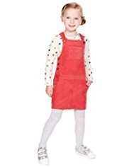 2 Piece Pure Cotton Corduroy Pinafore & T-Shirt Outfit
