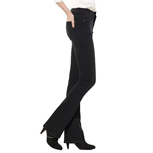 R Essentiel Donna Jeans Bootcut, Vita Leggermente Bassa Taglia 30 Nero
