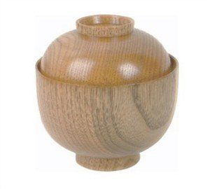 1 X Wooden Rice Miso Soup Bowl with Lid 45-35 (Wooden Bowl With Lid compare prices)