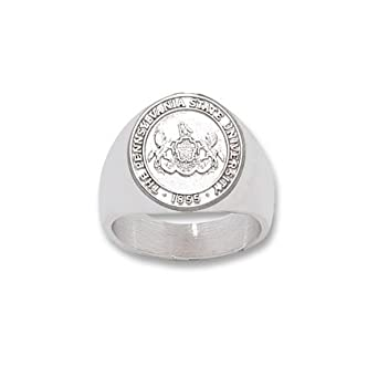 Penn State Nittany Lions Seal Mens Ring Size 10 1 2 - Sterling Silver Jewelry by Logo Art