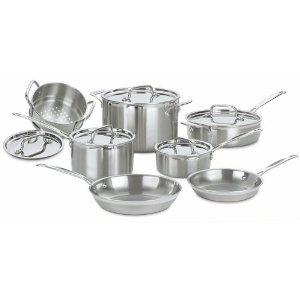 Cuisinart MCP-12 MultiClad Pro Stainless Steel 12-Piece Cookware Set & FREE MINI TOOL BOX (ml)
