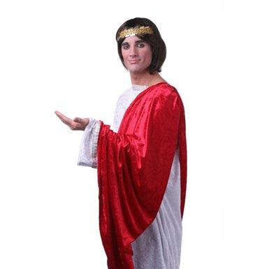 Mens Brown Roman Emperor Caesar Halloween Costume