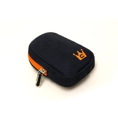 CaseCrown Faux Suede Storage Case (Asphalt Blue) to Protect and Carry the Logitech V450 Nano Cordless Laser Mouse