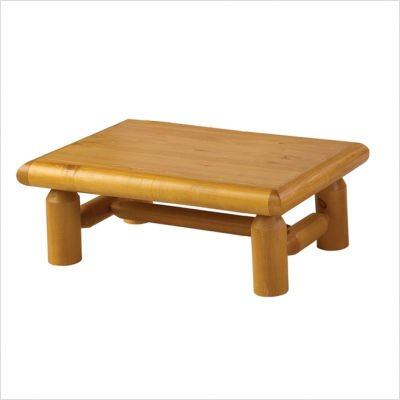 Lodge Pole Solid Pine Coffee Table Finish: Honey