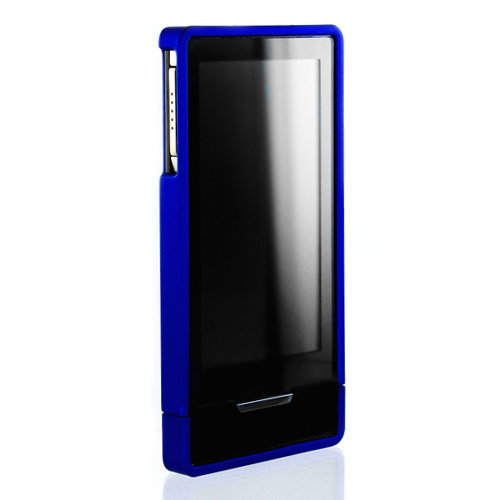Blue Mivizu Hard Candy Zune HD case cover for Microsoft Zune HD hard crystal rubber skin case screen protector designed for Zune HD 16GB / 32GB