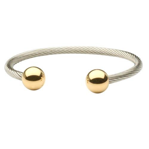 Sabona Wire Magnetic Bracelet Two Tone - L/XL