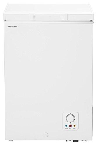 Hisense GT98A++ Gefriertruhe / 84 cm Höhe / 133 kWh/Jahr / L Kühlteil / 98 L Gefrierteil / A++ Energieeffizienz / Geräuschdämmendes Design / weiß