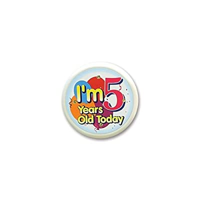 Beistle FB55 I'm 5 Years Old Today Flashing Button, 2-1/2-Inch