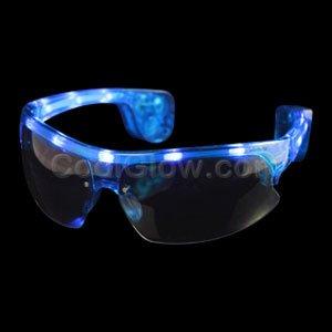LED Sporty Sunglasses - Blue - 1