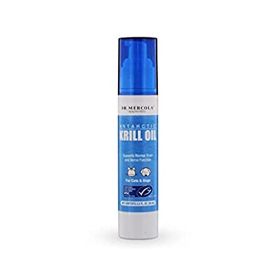 Dr. Mercola Krill Oil For Pets Liquid Pump - Supports Normal Brain And Nerve Function - For Cats And Dogs - 268 Sprays