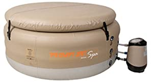 Jilong Plastic, Prompt Set Deluxe Portable 4 Person Spa in Tan, Affordable, Durable and Inflatable, 110V Plug and Play Air Bubbl at Sears.com