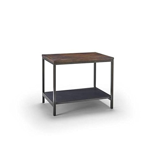 Homeware  Sawyer Copper Bunching Table with Hand Rubbed Weathered Iron Finish