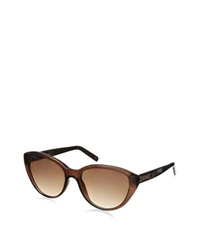 Escada Women's SES266 Sunglasses, Shiny Transparent Brown