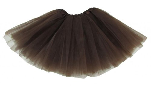 Hairbows Unlimited Girls' Dance Tutu One Size Chocolate Brown front-477611