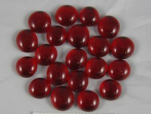 Red Glass Gaming Stones 20ct