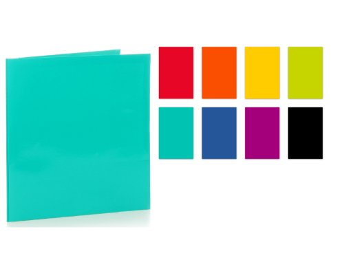 promarx-2-pocket-3-prong-paper-portfolio-with-high-gloss-laminated-finish-assorted-colors-12-x-95-in
