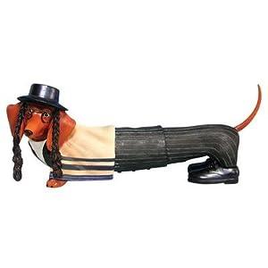 Kosher Jewish Hot Dog Dachshund Collection Figurine
