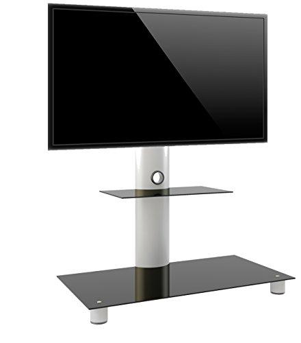 vcm-tv-standfuss-standol-mit-zwischenboden-silber-schwarzglas