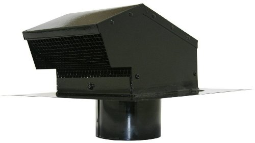 Speedi-Products EX-RCGC 04 4-Inch Diameter Galvanized Roof Cap with Collar, Black
